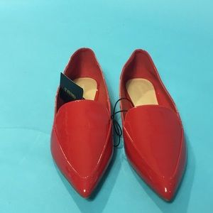 Forever 21 Red Pointed Toe Loafer Flat Shoes 10